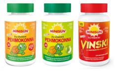 Minisun Junior D3-vitamiini Vinski tai Pehmokonna 60kpl
